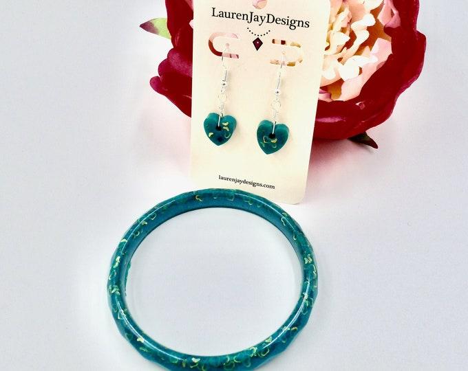 Teal Heart Queen Jewellery Set
