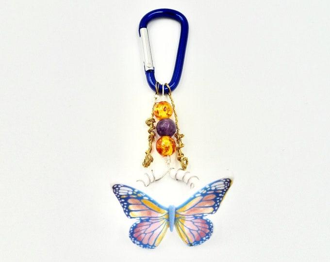 Keychains, Butterfly Keychains, Beaded Keychains, Resin Keychains, Amethyst Keychains, Birthday Gifts, Butterfly Gifts, Gifts for Her, Gifts