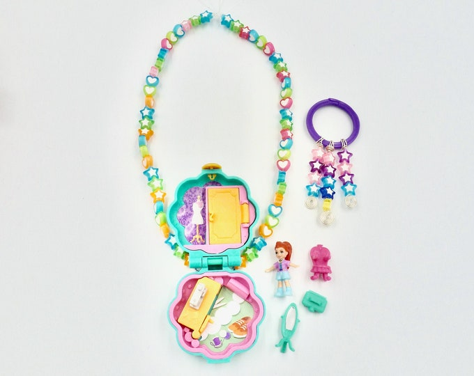 Polly Pocket Sewing Room Locket Necklace Jewellery Set