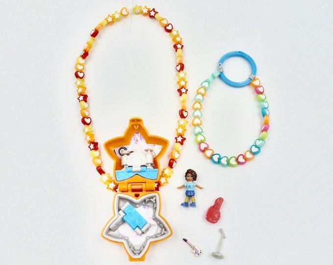 Polly Pocket Rock N Roll Locket Necklace Jewellery Set