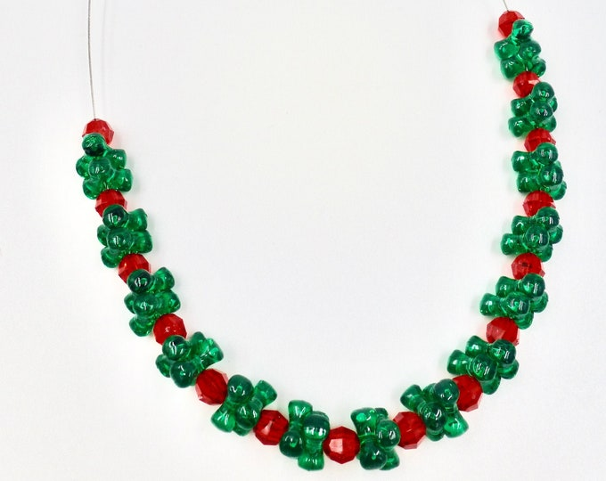 Christmas Beaded Necklace