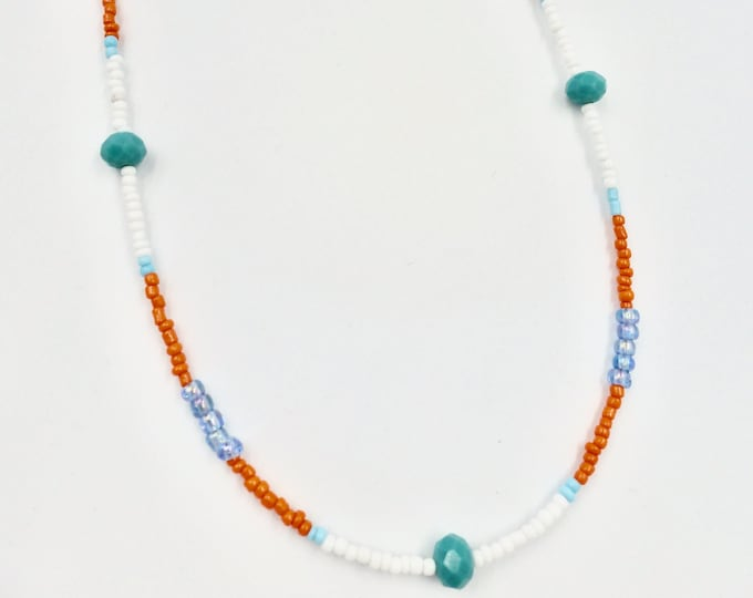 Orange, Blue and White Mask Chain
