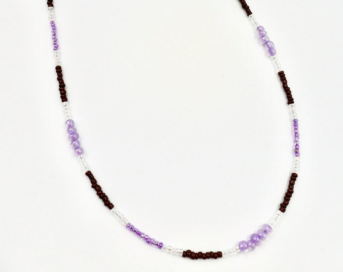 Purple and Brown Mask Chain