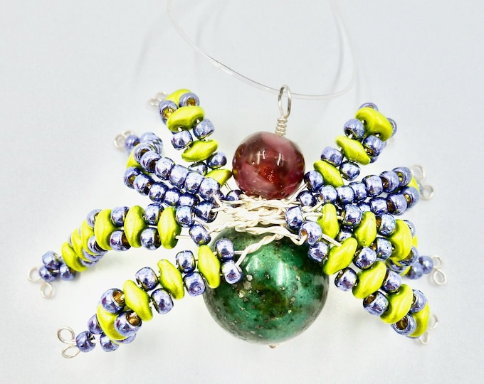 Green Spider Ornament