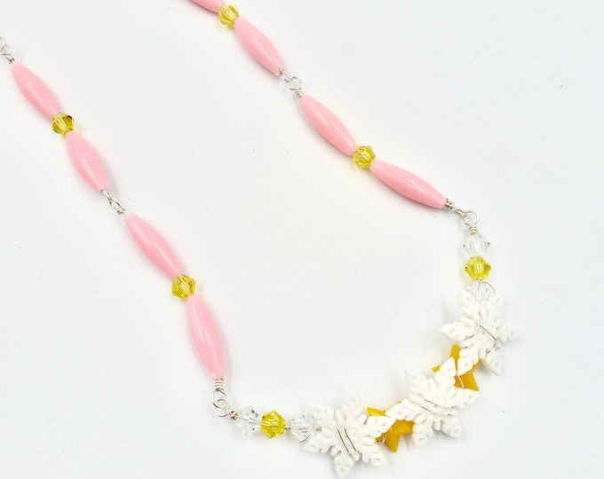 Winter Snowflake Beaded Necklace