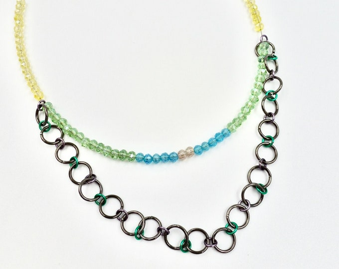 Chainmail Beaded Necklace