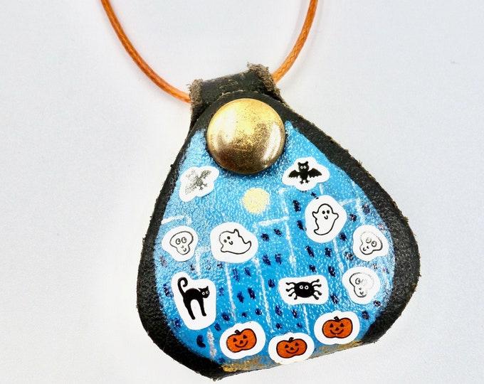 Halloween Scene Pocket Cord Necklace