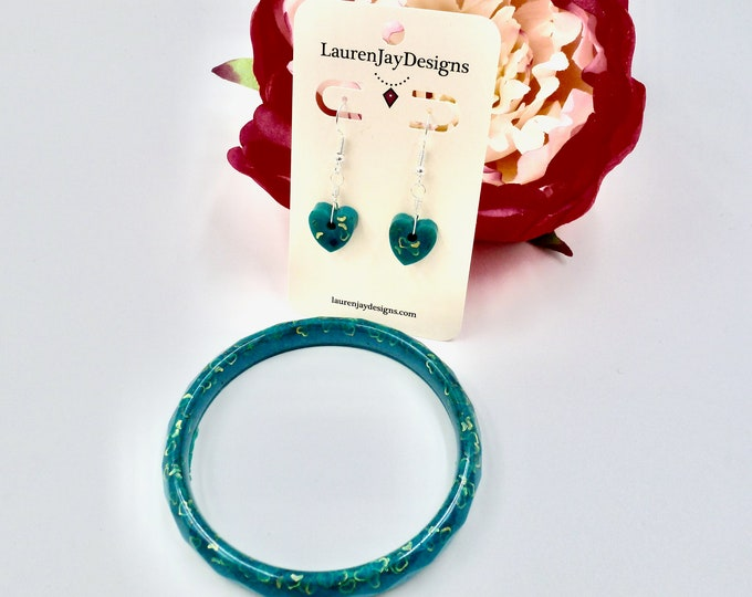 Teal Heart Queen Jewellery Set