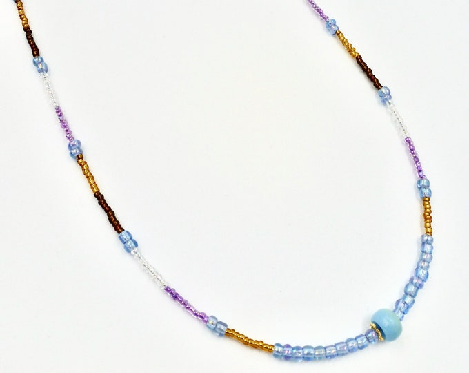 Blue, Purple, Brown and Gold Mask Chain