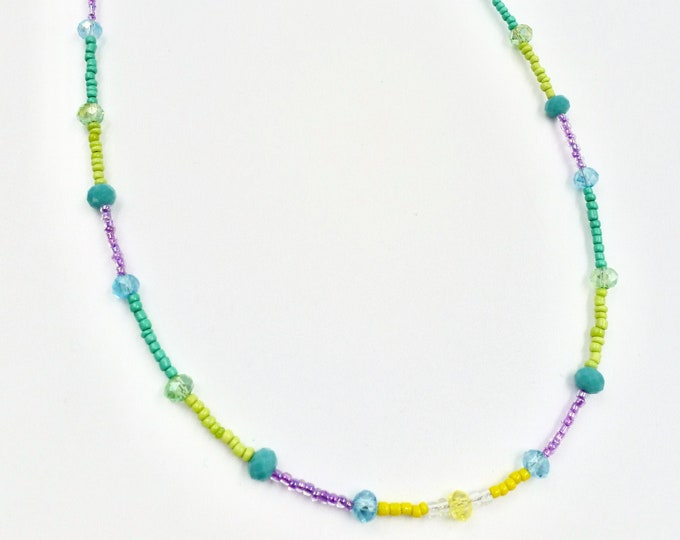Green, Purple and Yellow Mask Chain