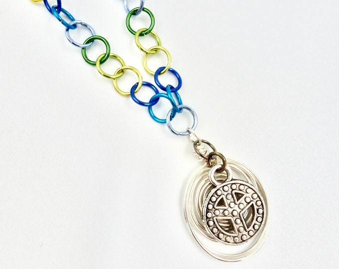 Peace Coloured Chain Necklace