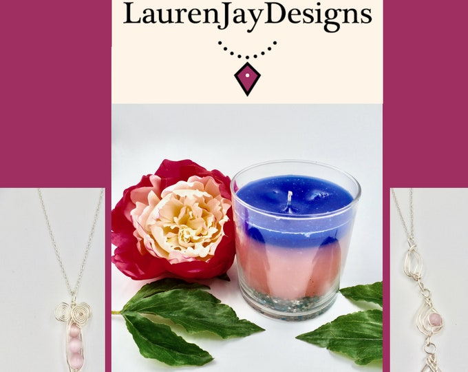 Pink and Blue Treasure Candles