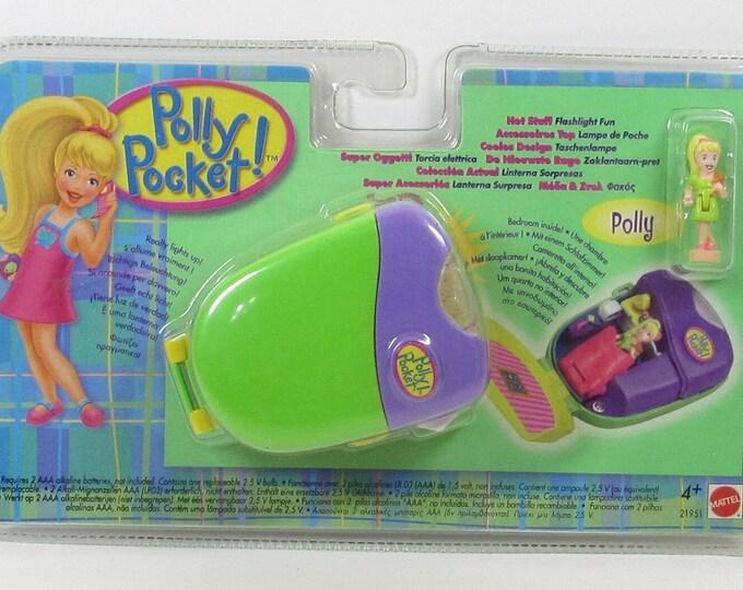 1998 Polly Pocket Vintage Green Hot Stuff Flashlight Fun Bluebird Toys NEW, Polly Pocket Flashlight, Polly Pockets, Polly Pocket Bedrooms