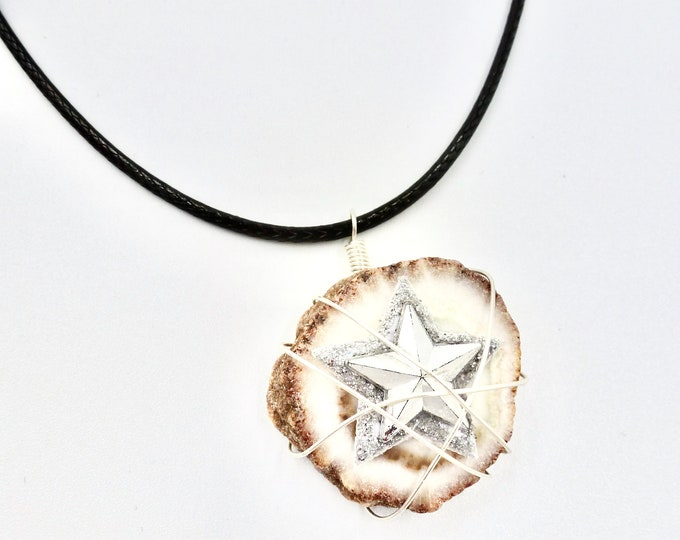 Solar Quartz Pendants, Star Pendants, Gemstone Pendants, Cord Necklaces, Quartz Necklaces, Women's Jewellery, Jewellery Gifts, Birthday Gift