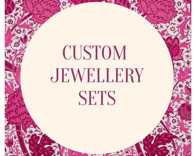 Custom and Personalised Jewellery Sets