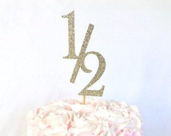 Half Birthday Cake Topper 1 2 6 Months Year Six Month
