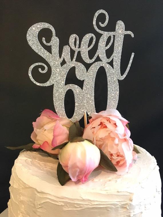 Pleasant 60Th Birthday Happy Birthday Cake Topper Birthday Etsy Personalised Birthday Cards Sponlily Jamesorg