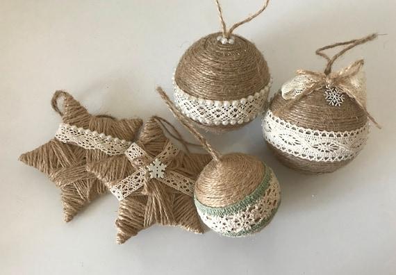 Risultati immagini per twine christmas ornaments