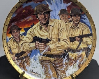 John Wayne Military Limited Edition  Symbol of Leadership Plate