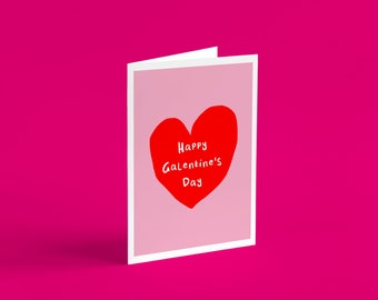 Cute Happy Galentine's Day Card | Plant lovers, Galentine's, Anniversary Card, Isolation gift, cards for her, cards for him, couple cards