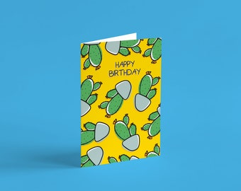 Birthday Cacti Card | Birthday cards for her, plant cards, cards for him, boyfriend, girlfriend, plant lover, plant lady, isolation gift