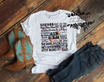 4b4cd6c821 Jason Aldean, song lyric tee, graphic tee