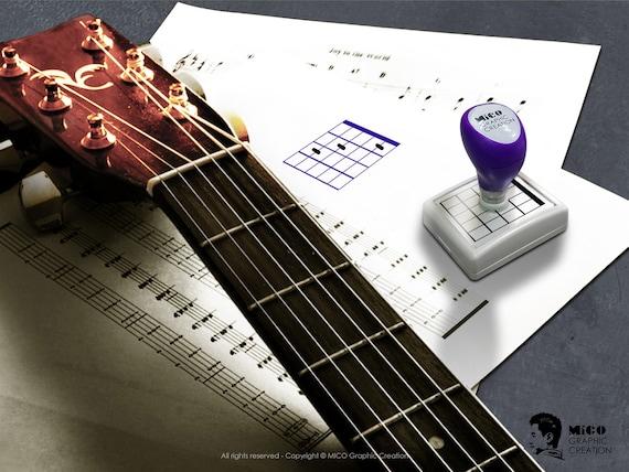 Adressenstempel « BANJO » mit Kissen Musiker Musiklehrer Firmenstempel
