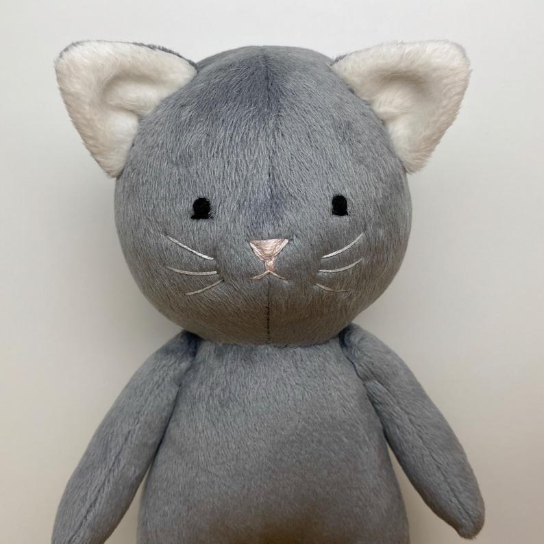 stuffed animal sewing pattern Cat sewing pattern cat plush digital pattern