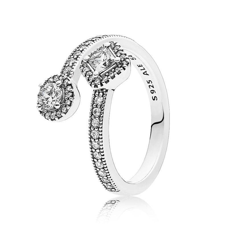 865ab6085 Pandora S925 ALE Abstract Elegant Ring Size: 50 52 54 56 | Etsy