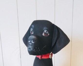 Black Labrador weighted floor ornament/ doorstop