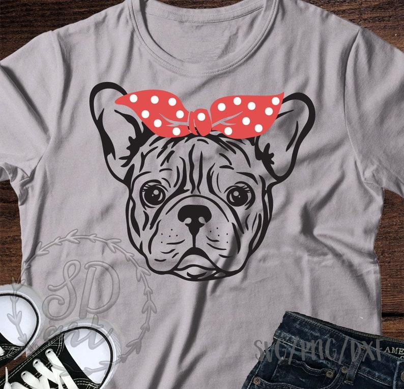 French Bulldog svg,French Bulldog with bandana svg,Bandana French Bulldog SVG,French Bulldog Dog svg file,Cricut Silhouette Dog lover svg