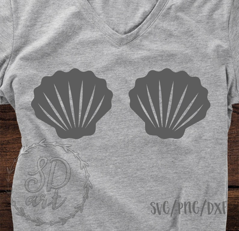 Merbabe svg Shells SVG Mermaid shells svg file Disney svg Cut File Cricut Silhouette Mermaid shells svg Mini Mermaid SVG file Shells SVG