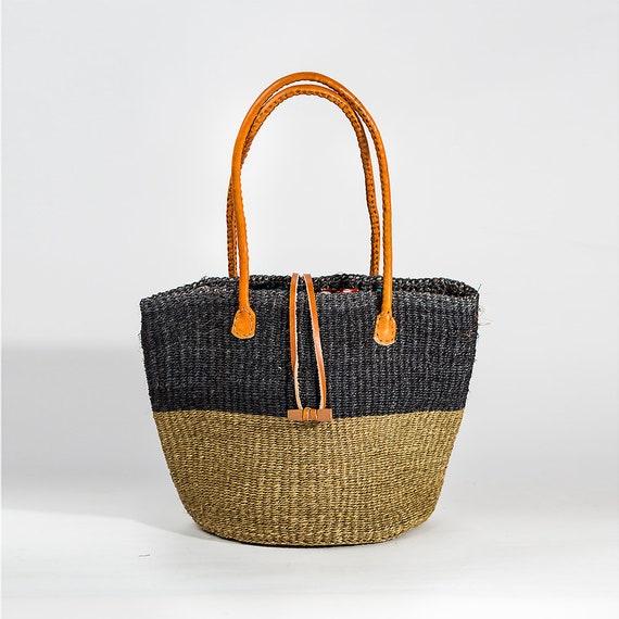 Red /& White HandWoven Sisal Basket; Kiondo bag; African tote bag; Handbag; Sisal tote bag; African basket