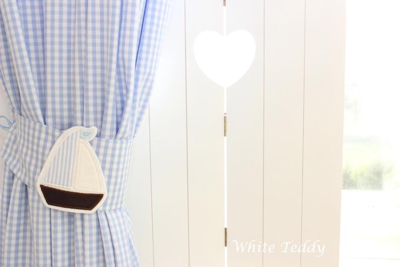 Blind sailboat vichy plaid light blue 140x240