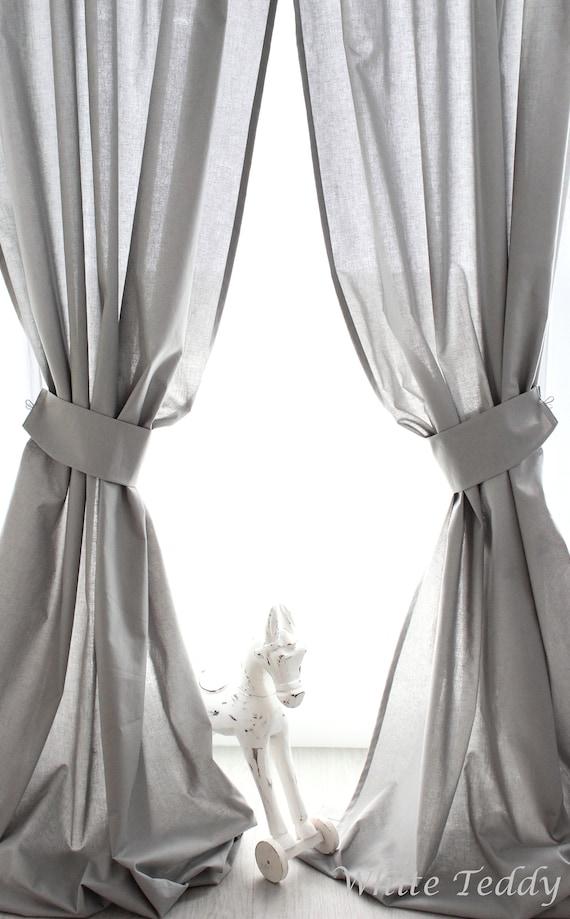 Curtain Grey with Raff holder 140 x 240