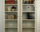 Showcase cabinet - glass cabinet - bookcase - doctor 39 s cabinet - antique country house - vintage - shabby