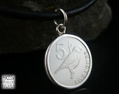 Pendant coin Sri Lanka 1978 925 sterling silver for 18th birthday aluminum coin jewelry hand made necklace with coin Asia coin