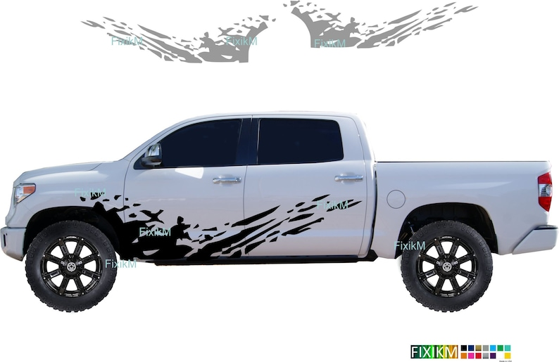 Jeep GM Mud splash side graphics vinyl decal stickers UNIVERSAL size fit for Toyota Dodge Chevy Ram lifted suv Nissan pick up GMC