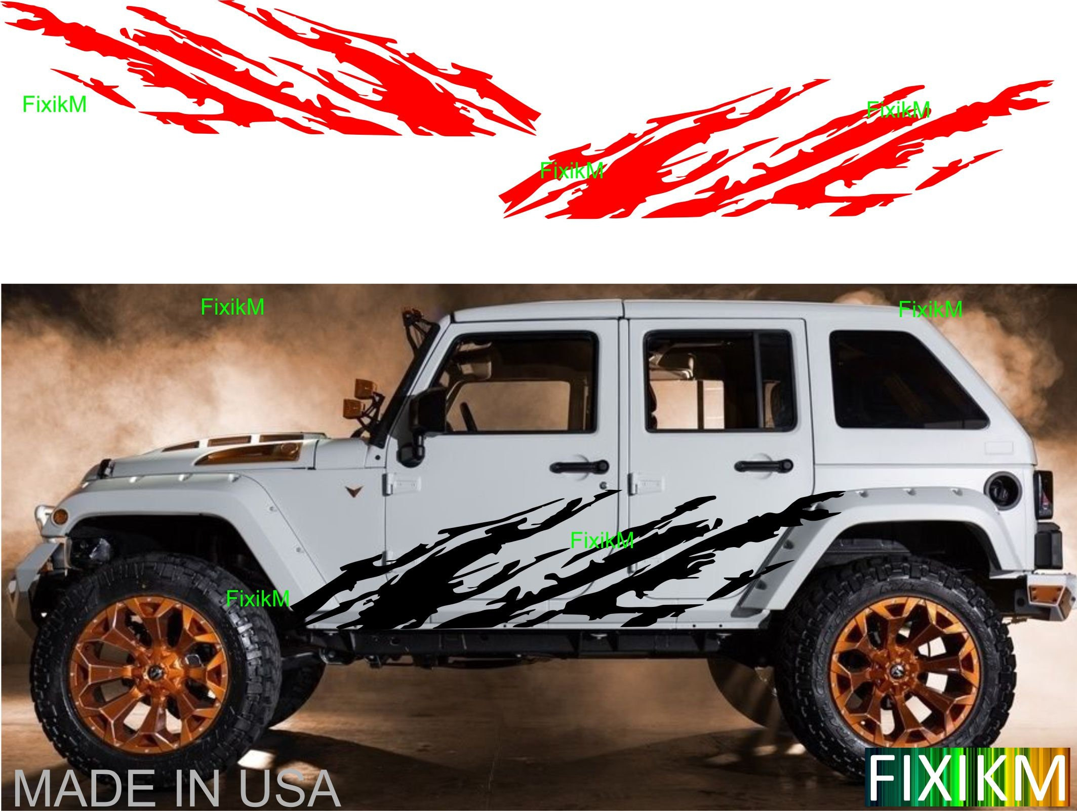 2015 2016 2017 2018 Jeep Renegade Mud Splash Graphics