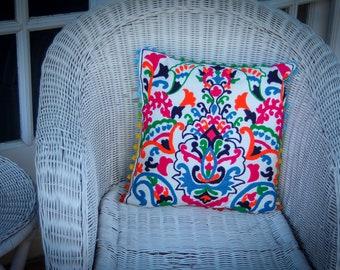 Colourful Chorten Suzani Cushion
