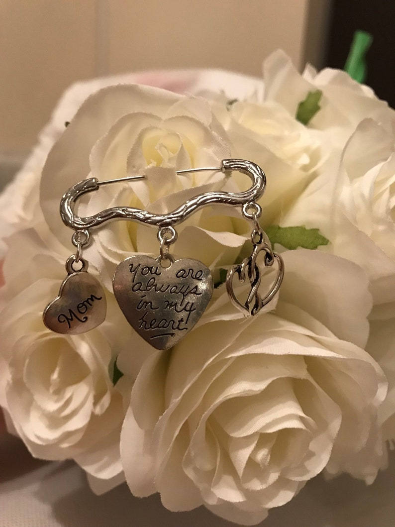 Groomsmen giftmemory pin gift for groomboutonniere pinwedding memory pinYou are always in my heart.