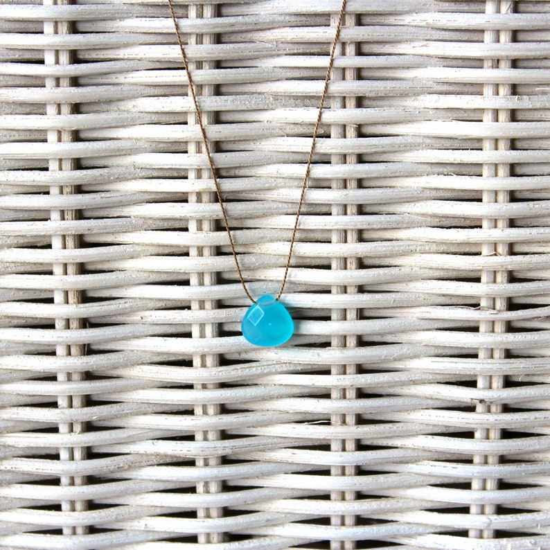 Necklace-Chalcedon blue small-SOMMERLOEBLING image 0