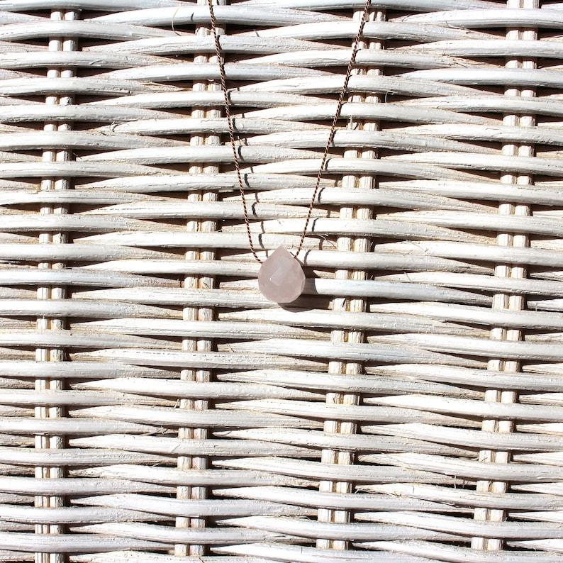 Necklace-rose quartz-SOMMERLOVE image 0