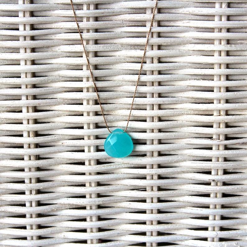 Necklace-Chalcedon blue big-SOMMERLOEBLING image 0