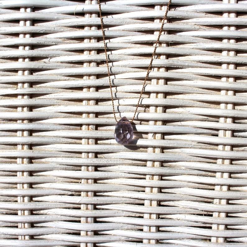 Necklace-quartz pale indigo-SOMMERLOEBLING image 0