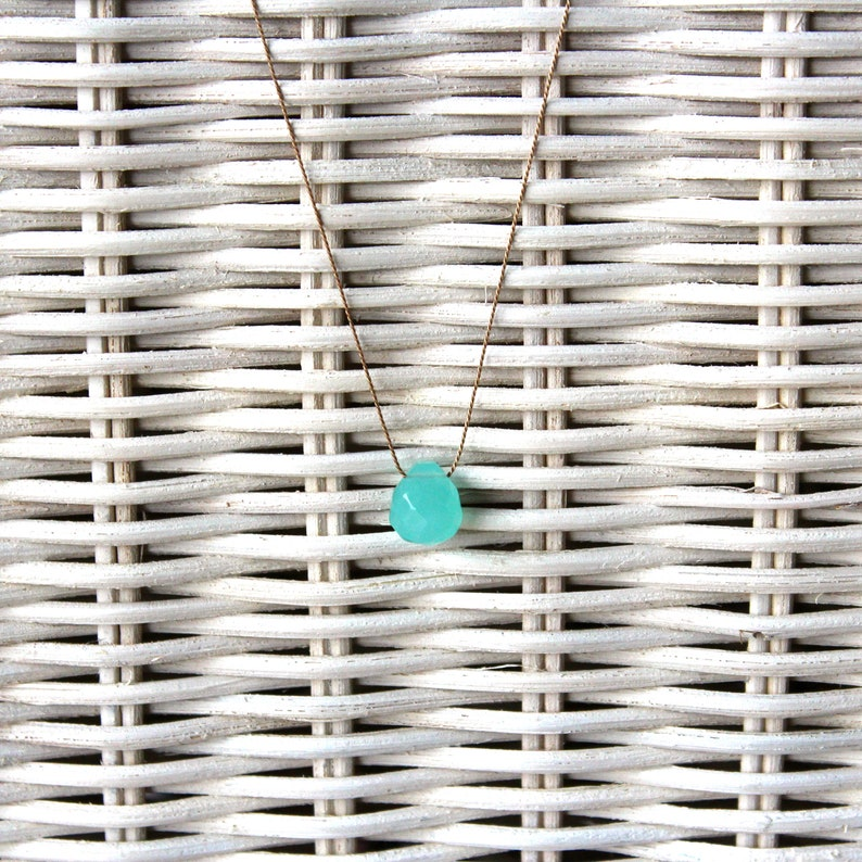 Necklace  Chalcedon aqua  SUMMER LIEBLING image 0