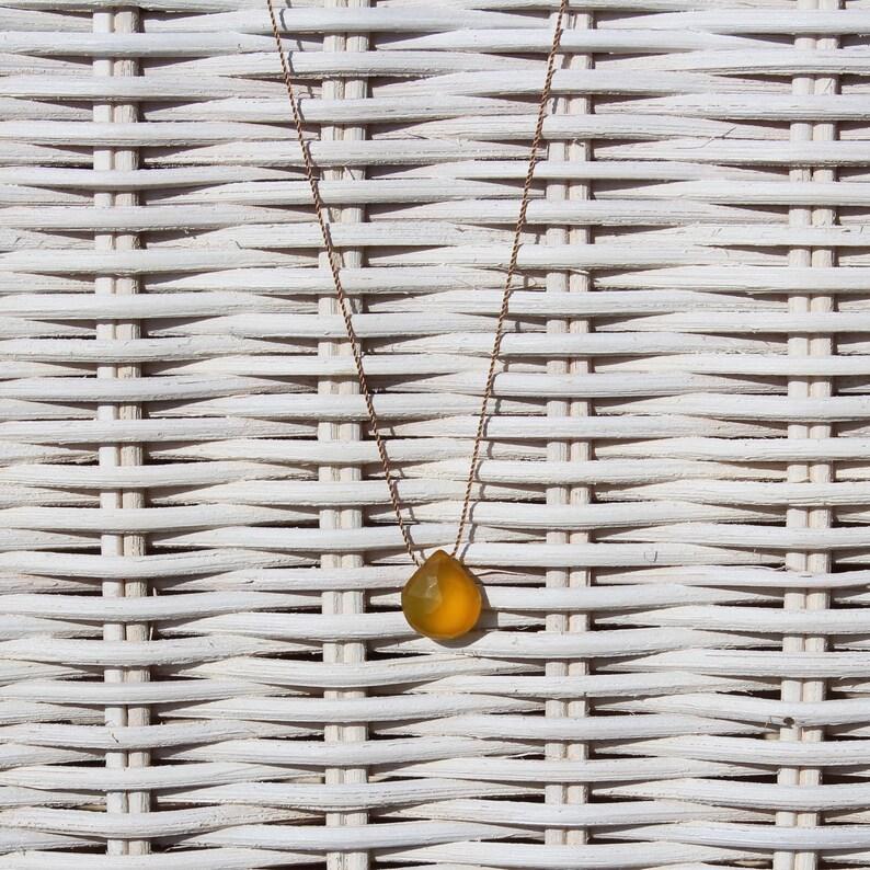 Necklace-Chalcedon honey-SOMMERLOEBLING image 0