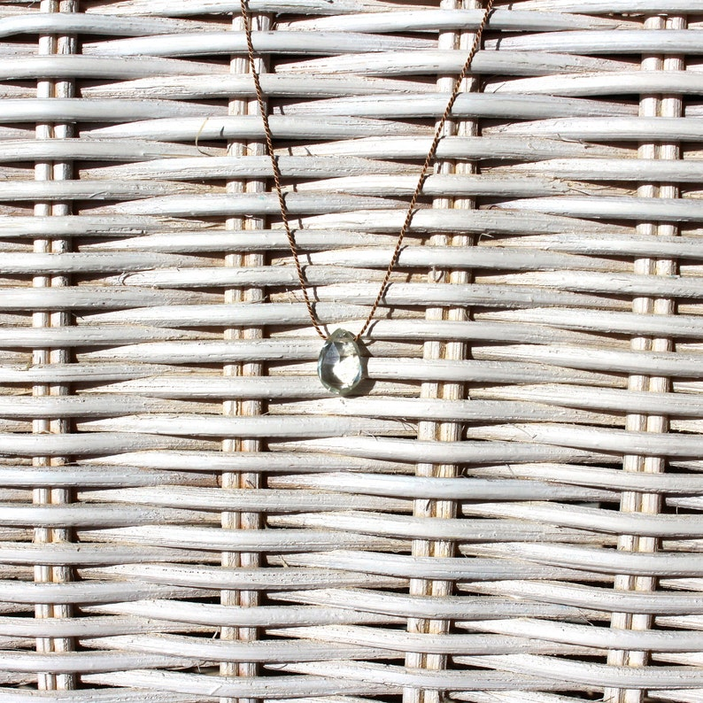 Necklace-Aquamarine willow green-SOMMERLOEBLING image 0