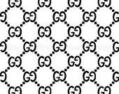 Gucci Pattern Vinyl Stencil