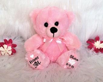 Flower Girl Bear Etsy